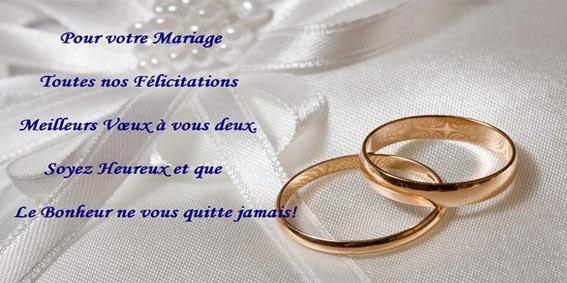 Modèle lettre félicitation mariage