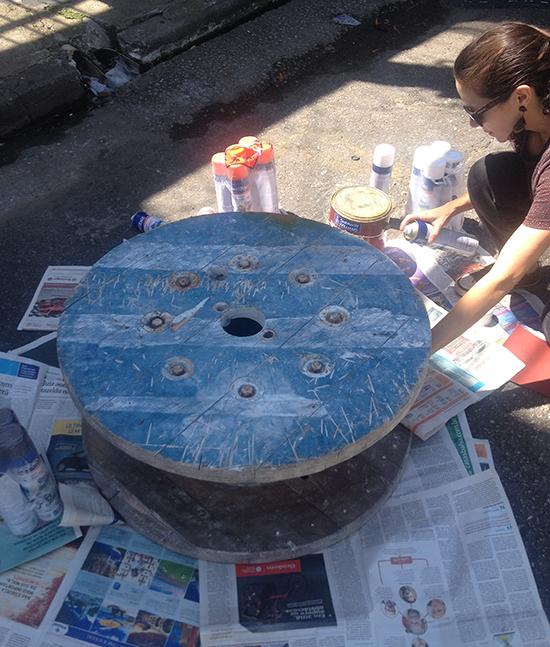 carretel de madeira, carretel, faça você mesmo, diy, upcycling, reciclagem