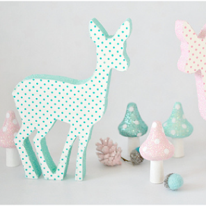 Polka dot print deer by Torie Jayne