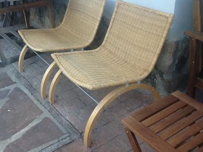 Bricolaje y manualidades con unas sillas de mimbre