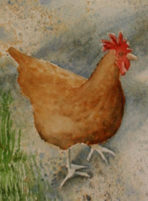 Linda's Art Journal: Eddie's Rooster