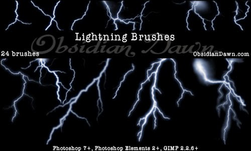 Lightining Free Photoshop brushes