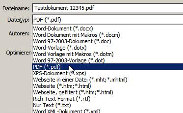 word mobile als pdf speichern