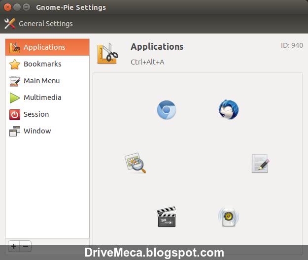 DriveMeca instalando Gnome Pie paso a paso