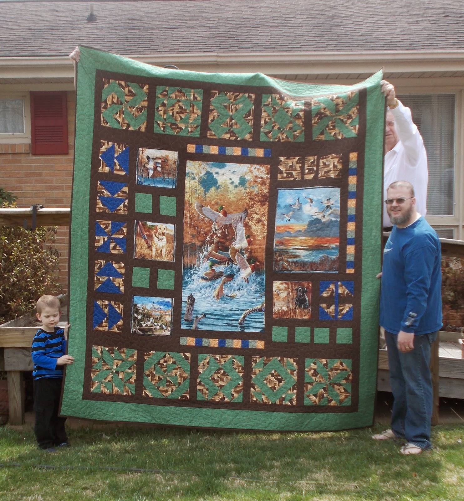 Quilt and Sew Forever: Greg's Birthday Quilt : fishing quilt - Adamdwight.com