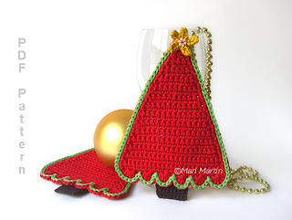Crochet Coasters Christmas Tree