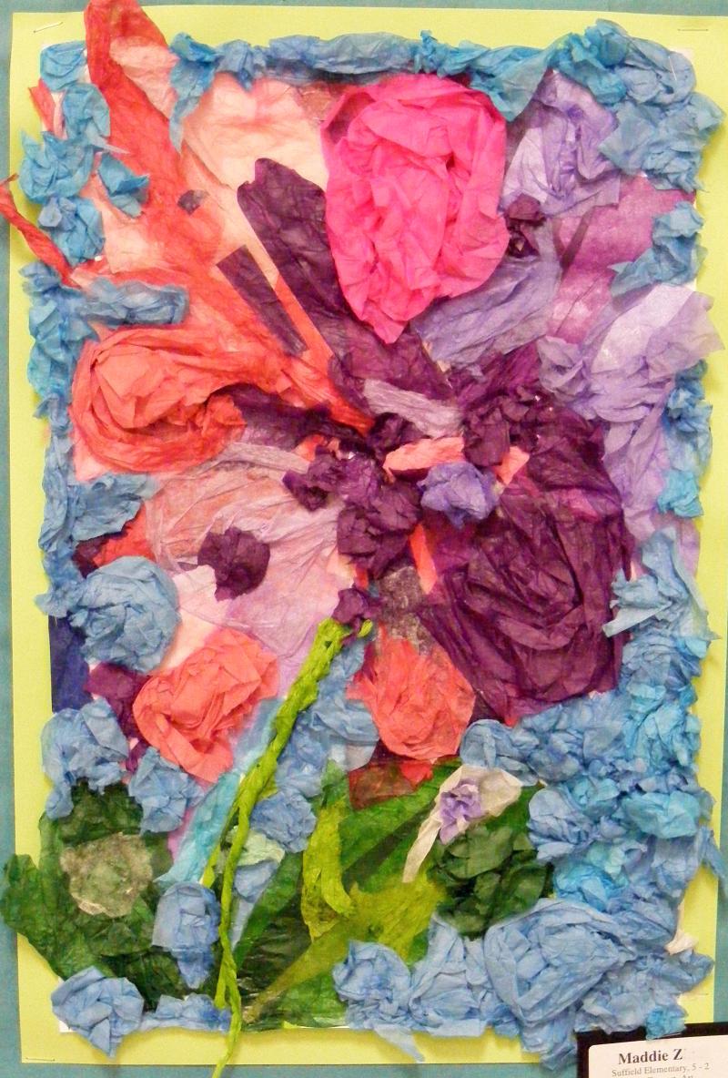 Suffield Elementary Art Blog Georgia Okeeffe Inspired Tissue