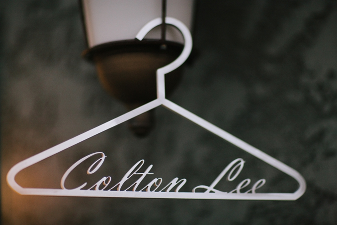 Adorable custom made metal hanger with child's name by STUDIO 1208