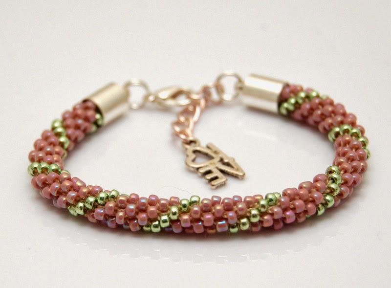 bransoletka koralikowa szydełkowa bead crochet bracelet 5