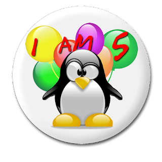 Slap the Penguin 5th anniversary button