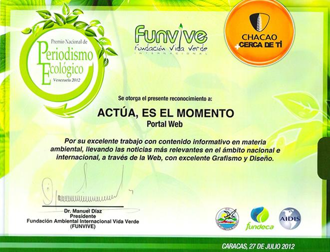 Actúa, ¡es el momento!: julio 2012