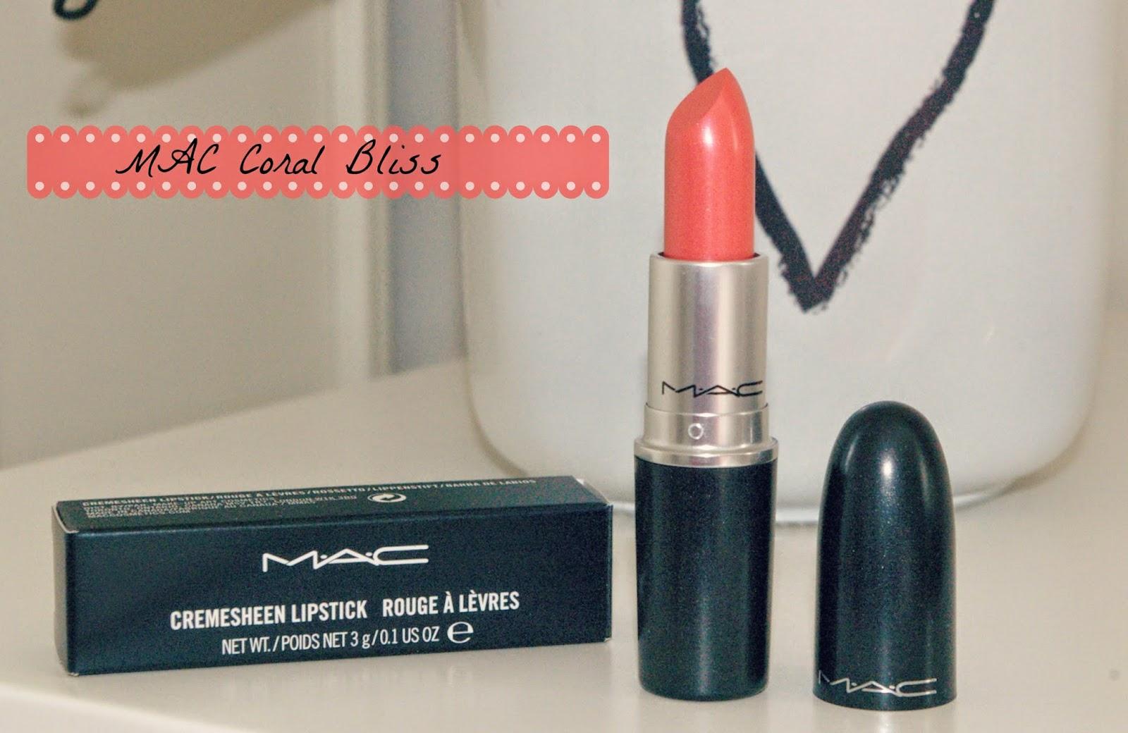 ♥ TiffanysBeautyBox ♥: REVIEW // MAC Coral Bliss Lipstick ♥
