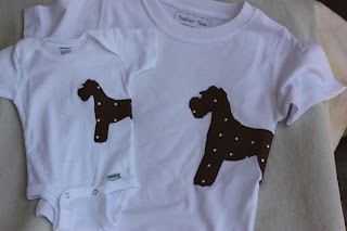 Dog Silhouette Onesies