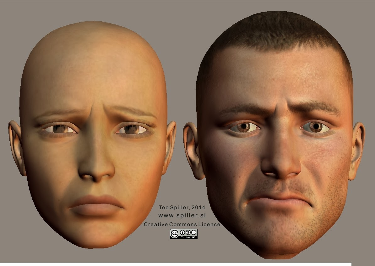 Sad face shape (enface)