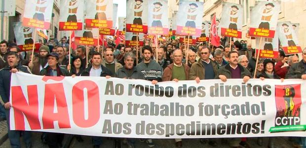 """Portugal: CGTP promete tornar Terreiro do Paço num """"terreiro do povo"""""""