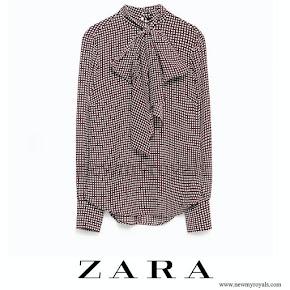 Princess Madeleine style ZARA Printed Blouse