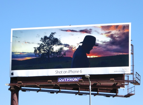 Shot on iPhone 6 Mark R billboard