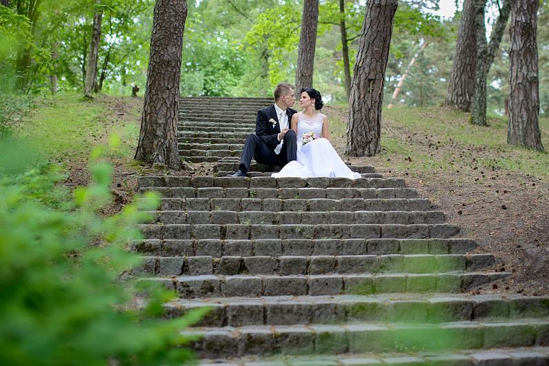 vestuvės gamtoje palangoje