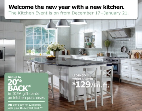 Canadian Daily Deals Ikea Kitchen Event Get 20 Back In