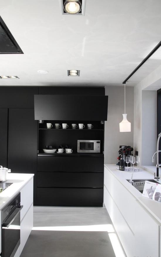 Living in designland mueble de cocina negro - Mueble almacenaje cocina ...