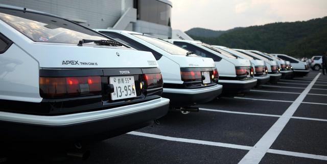 nostalgic, tuned, youngtimer, piękna Toyota, do driftingu, Levin, Trueno, fotki