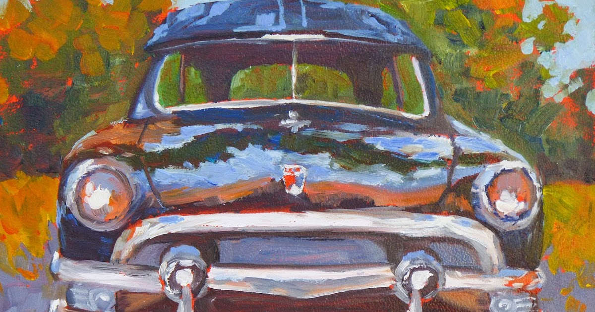 Sharon lynn williams 39 art blog new antique car series by for Sharon williams paint