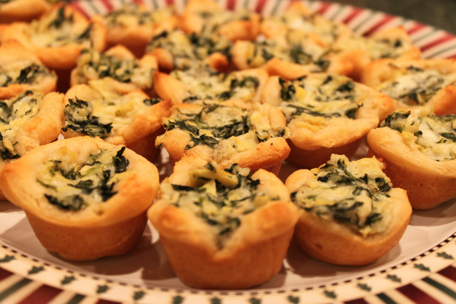 Girls in Aprons: Cheesy Spinach Artichoke Mini-Cups (and Dip!)