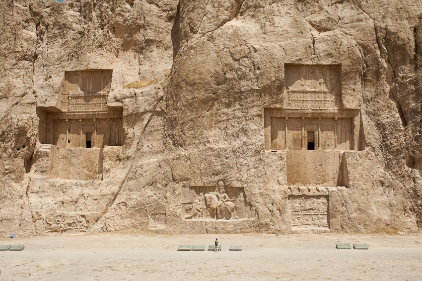 El cantilado del Naqsh-i Rustam, en Irán