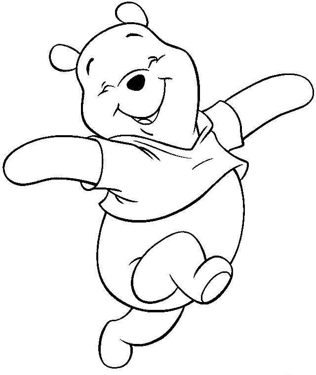 Dibujo Infantil De Winnie The Para Colorear