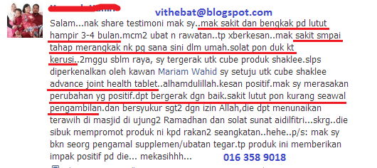Testimoni Joint Health Tablet