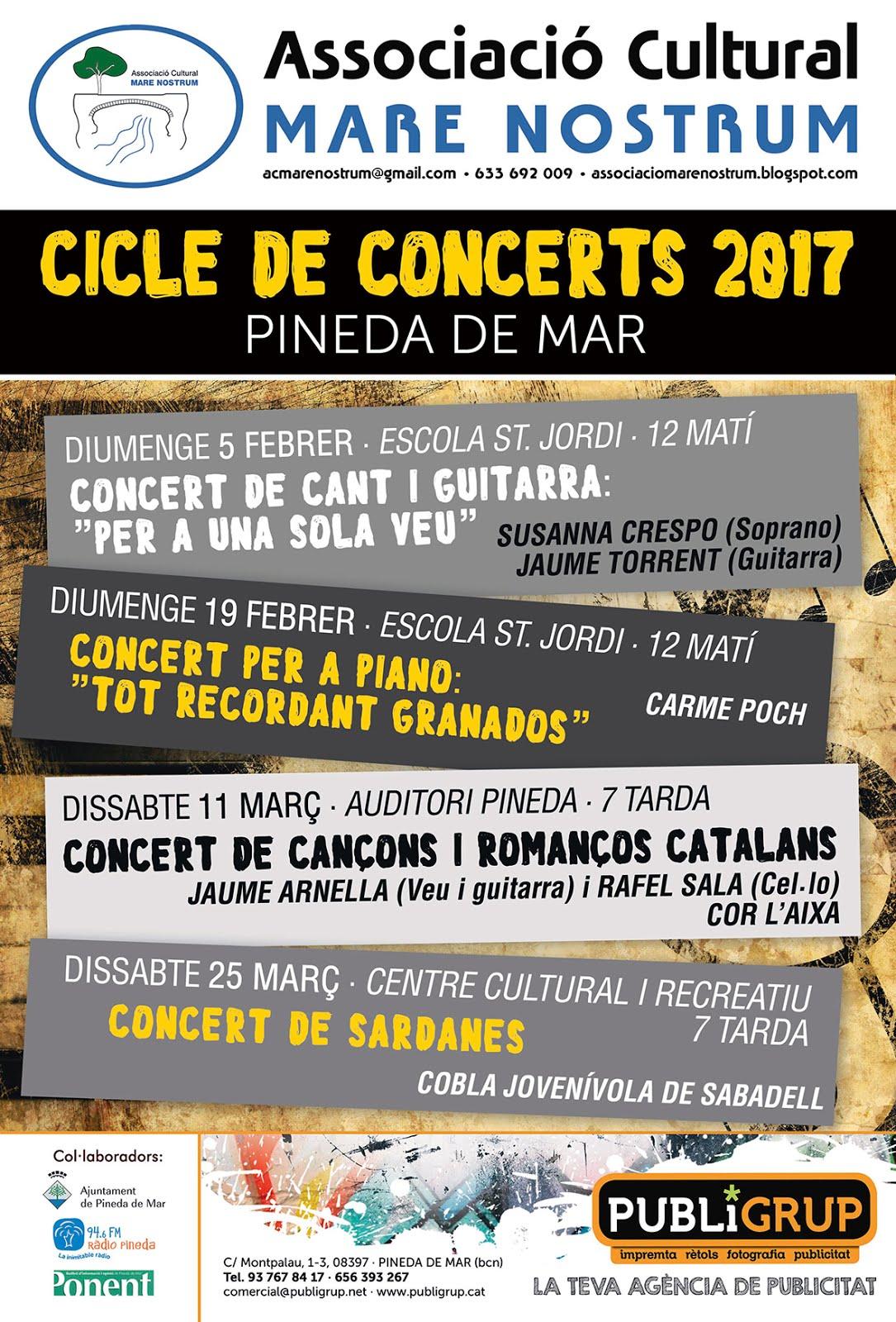 CICLE DE CONCERTS 2017