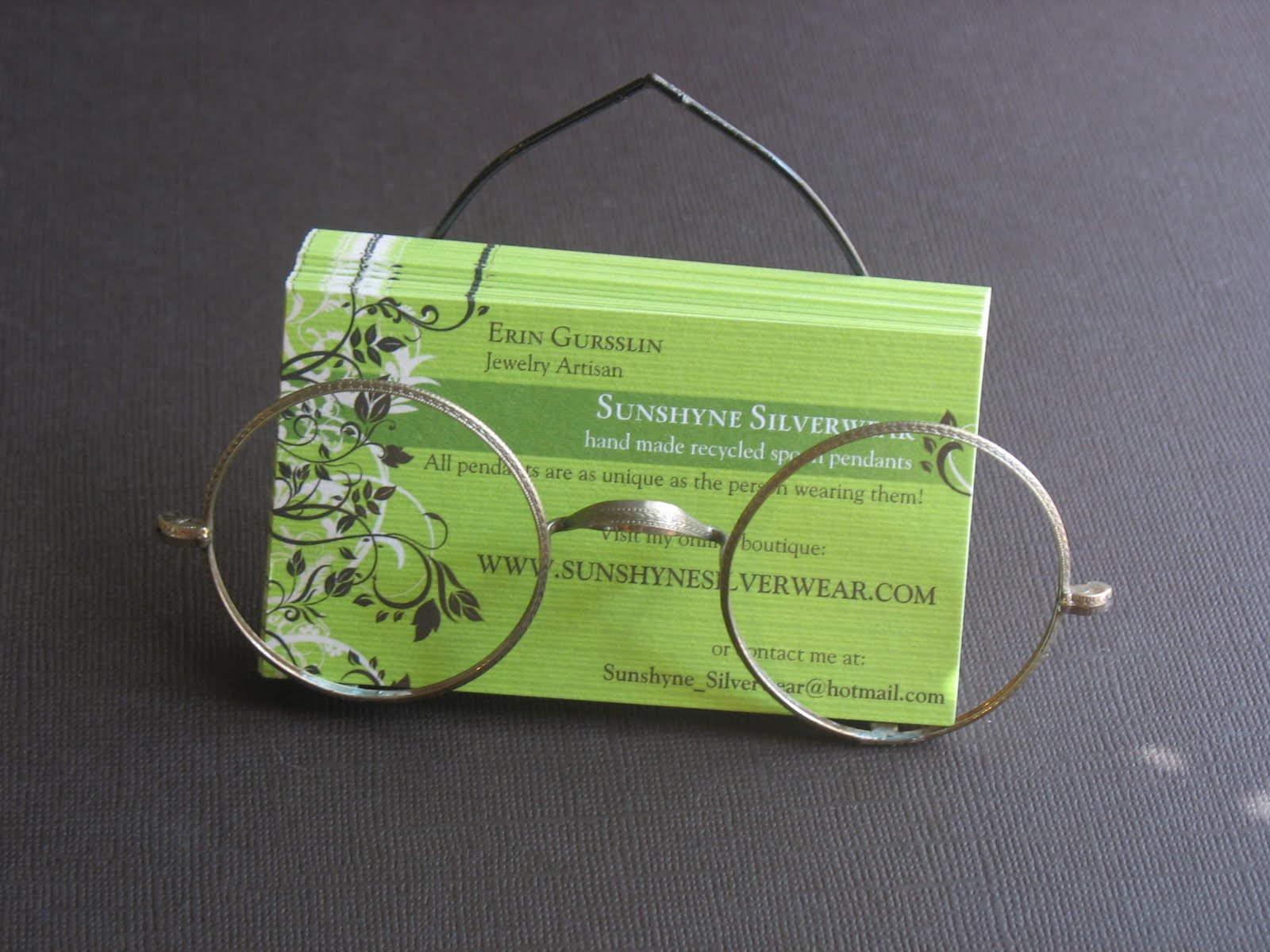 Sunshyne Silverwear NEW Eco friendly business card holders