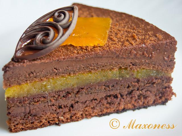 Торт «Захер» с апельсином и шоколадом от Уильяма Кёрли