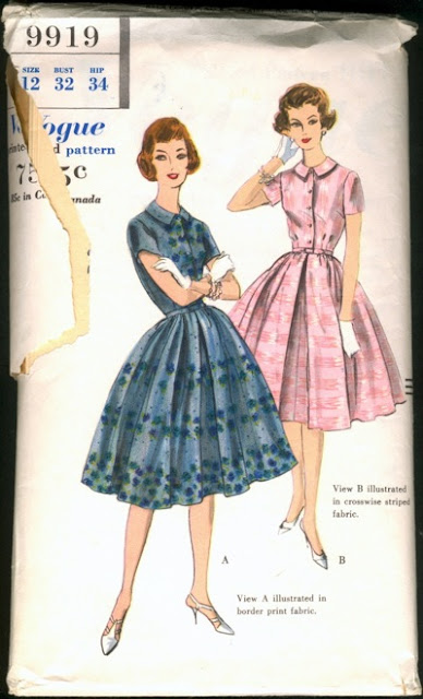1950s dress matching bolero sewing pattern Just Peachy, Darling