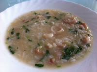 Vietnamese cuisine: rice with squid