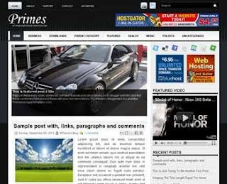 Primes Blogger Template