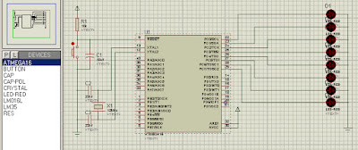 Rangkaian Antarmuka dan Program Running Led / Led Berjalan dengan Mikrokontroler
