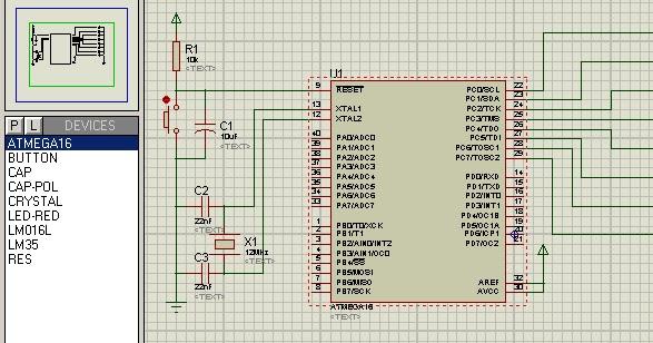 Rangkaian antarmuka dan program running led berjalan