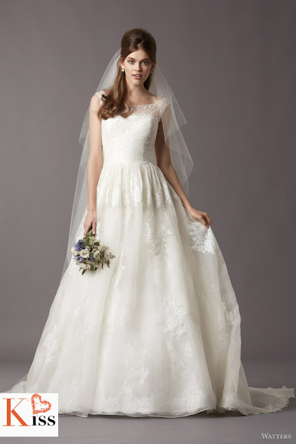 Watters 2013 Spring Lace Organza Wedding Dresses
