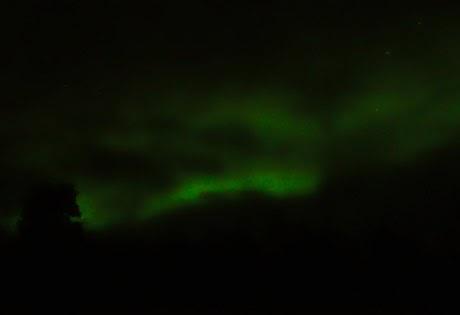 aurora boreal en Yukon