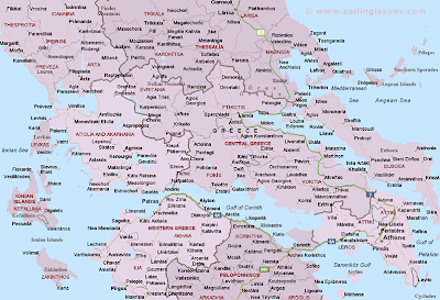 Map of Central Greece Area