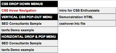 CSS Pop-Out Menu Tutorial