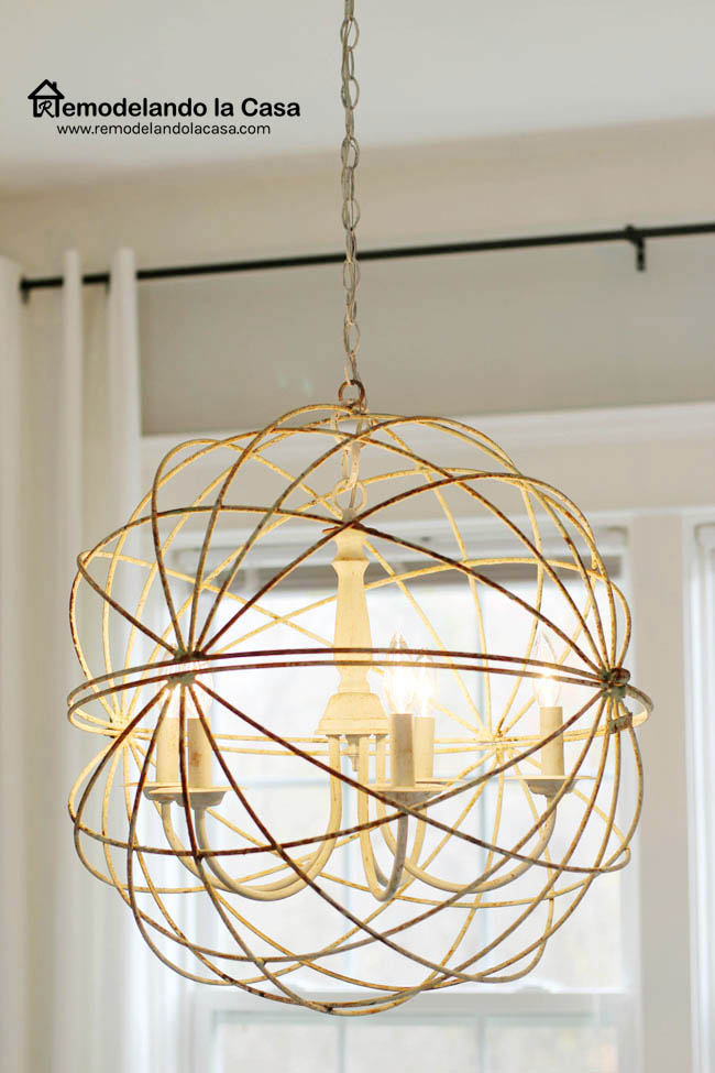 sphere chandelier for the dining room remodelando la casa
