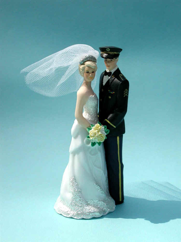 Army Bride And Groom Cake Topper