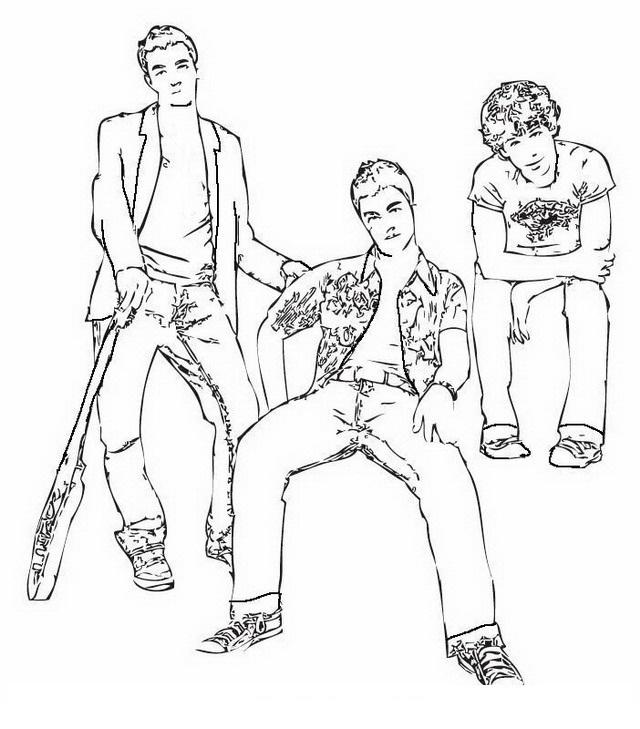 COLOREA TUS DIBUJOS: Jonas Brothers para colorear