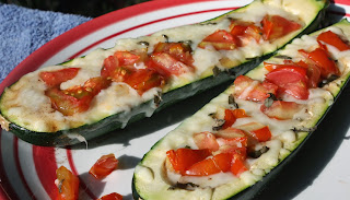 Caprese Stuffed Zucchini Boats   from Best of Long Island and Central Florida