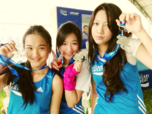 Foto JKT48 Singapura Marathon Pocari Sweet