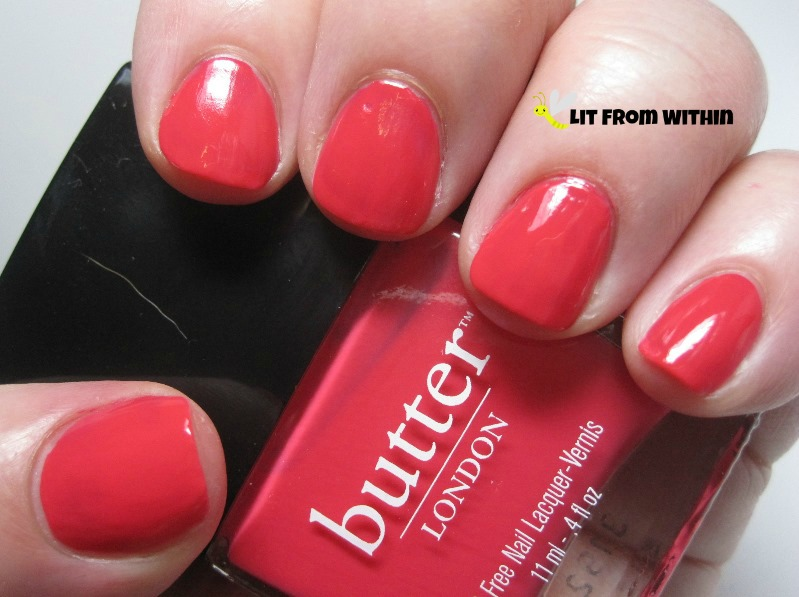 Butter London MacBeth, a red-leaning coral