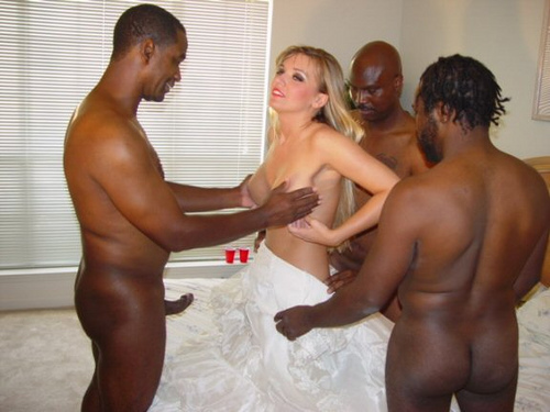 young bride gang bang during wedding