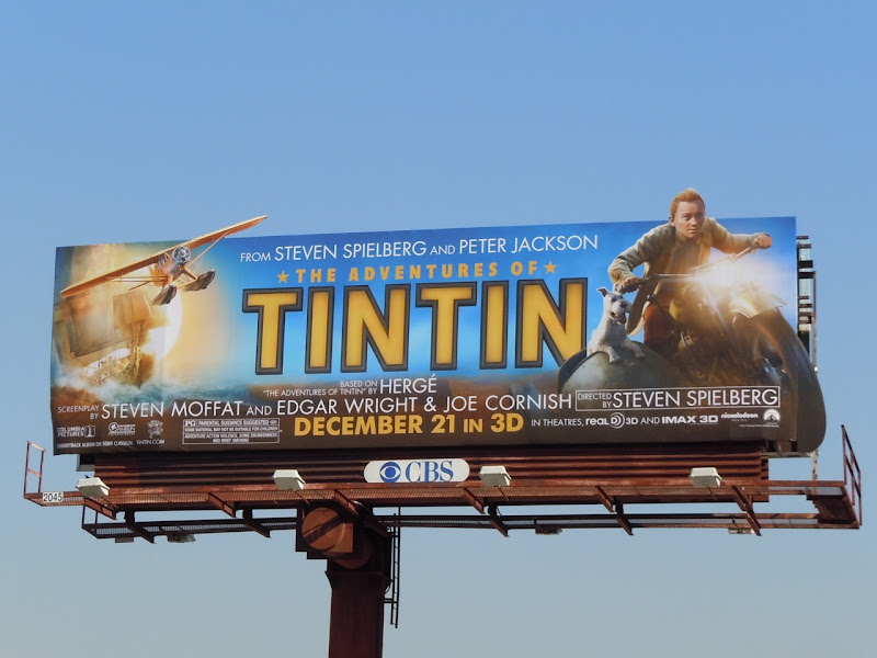 Tintin motorcycle movie billboard